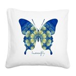 Samadhi Butterfly Square Canvas Pillow