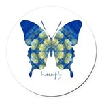 Samadhi Butterfly Round Car Magnet