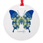 Samadhi Butterfly Round Ornament