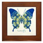 Samadhi Butterfly Framed Tile