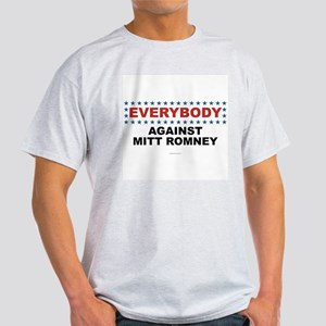 Anti Romney t-shirt EVERYBODY AGAINST MITT ROMNEY