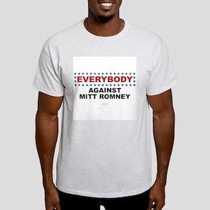 Anti Romney t-shirt EVERYBODY AGAINST MITT ROMNEY