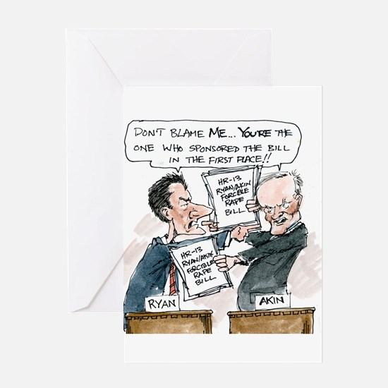 Paul Ryan VS Todd Akin HR13 Greeting Card