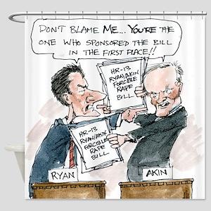 Paul Ryan VS Todd Akin HR13 Shower Curtain