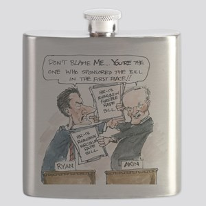 Paul Ryan VS Todd Akin HR13 Flask