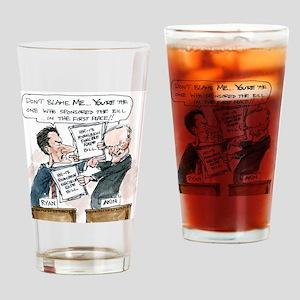 Paul Ryan VS Todd Akin HR13 Drinking Glass
