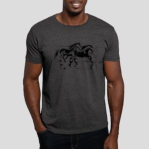 HORSES ON BEACH Dark T-Shirt