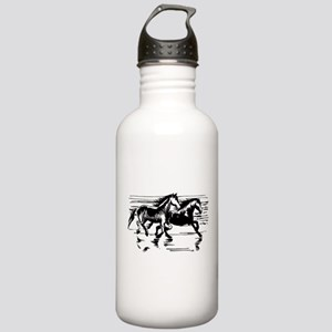HORSES ON BEACH Stainless Water Bottle 1.0L