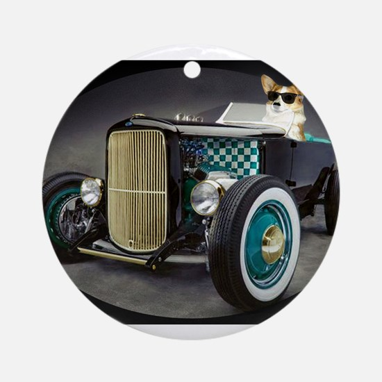 Hot Rod Dott Ornament (Round)