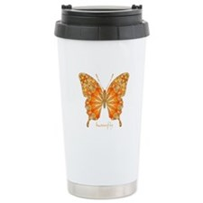 Precious Butterfly Stainless Steel Travel Mug