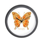 Precious Butterfly Wall Clock