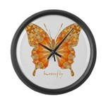 Precious Butterfly Large Wall Clock
