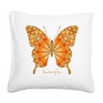 Precious Butterfly Square Canvas Pillow