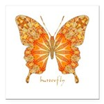 Precious Butterfly Square Car Magnet 3