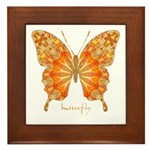 Precious Butterfly Framed Tile