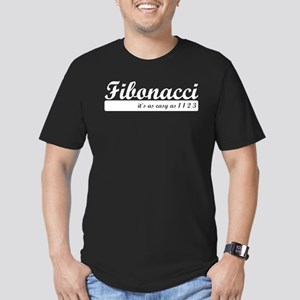 Fibonacci. 1 1 2 3. Men's Fitted T-Shirt (dark)