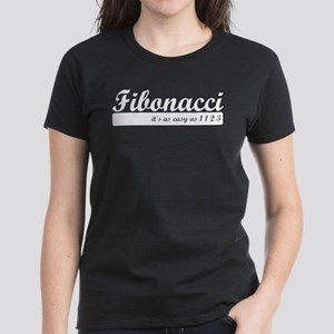 Fibonacci. 1 1 2 3. Women's Dark T-Shirt