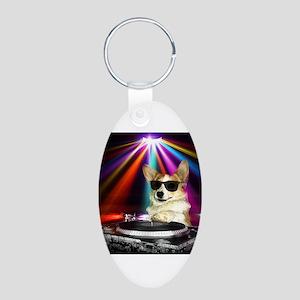 DJ Dott Aluminum Oval Keychain