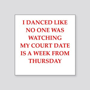 "dancing Square Sticker 3"" x 3"""