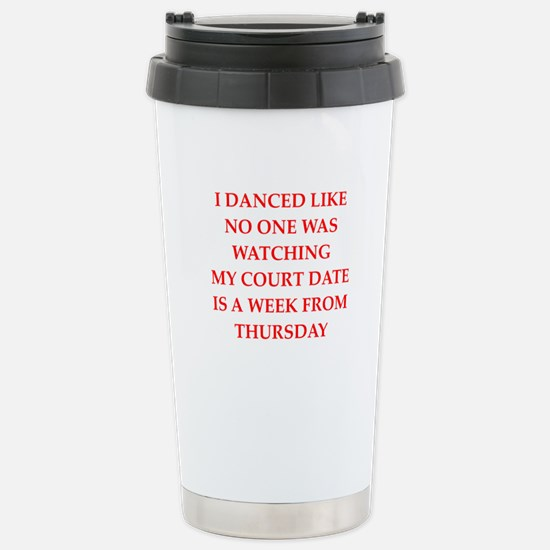 dancing Stainless Steel Travel Mug