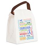 Survivor - Stomach Cancer Canvas Lunch Bag