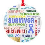 Survivor - Stomach Cancer Round Ornament