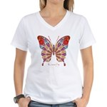 Ambitious Butterfly Women's V-Neck T-Shirt