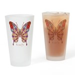 Ambitious Butterfly Drinking Glass