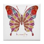 Ambitious Butterfly Tile Coaster