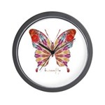 Ambitious Butterfly Wall Clock