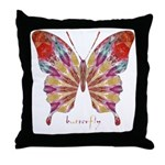 Ambitious Butterfly Throw Pillow