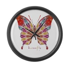 Ambitious Butterfly Large Wall Clock