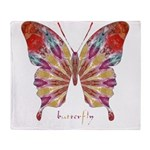 Ambitious Butterfly Throw Blanket