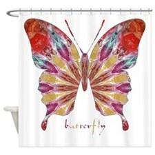 Ambitious Butterfly Shower Curtain