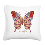 Ambitious Butterfly Square Canvas Pillow