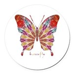 Ambitious Butterfly Round Car Magnet