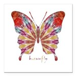 Ambitious Butterfly Square Car Magnet 3