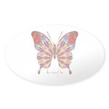 Ambitious Butterfly Sticker (Oval)