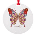 Ambitious Butterfly Round Ornament