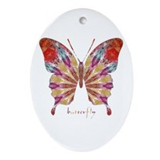 Ambitious Butterfly Ornament (Oval)
