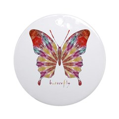 Ambitious Butterfly Ornament (Round)