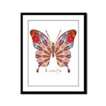 Ambitious Butterfly Framed Panel Print