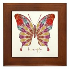 Ambitious Butterfly Framed Tile
