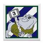 3ID-3rd Brig. Rocky Bulldog Tile Coaster