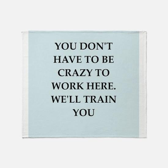 WORK2.png Throw Blanket
