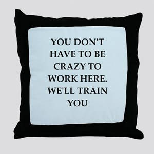 WORK2 Throw Pillow