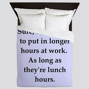 work joke Queen Duvet