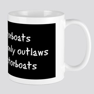 Outlaws Mug/white text on black b.g.