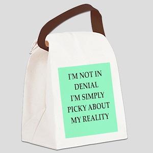 denial Canvas Lunch Bag