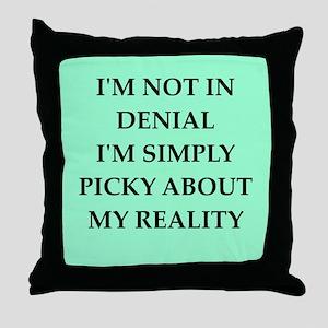 denial Throw Pillow